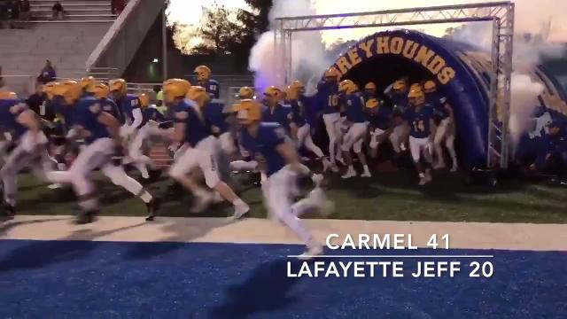 Friday Night Highlights: Carmel 41, Lafayette Jeff 20