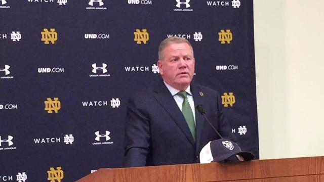 Brian Kelly, Notre Dame get ready for top-10 matchup with Miami