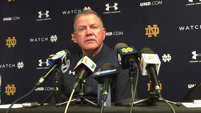 Notre Dame coach Brian Kelly on loss to Miami