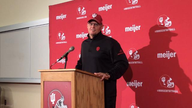 IU football coach Tom Allen speaks about his team's performance and his pride in his seniors following the Hoosiers' 41-0 win over Rutgers on Saturday.