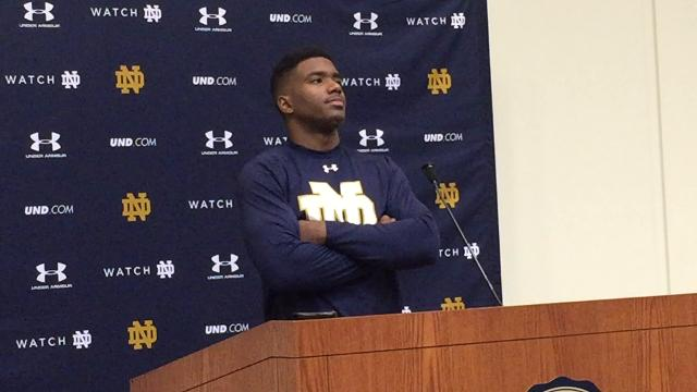 Notre Dame QB Brandon Wimbush on facing Stanford