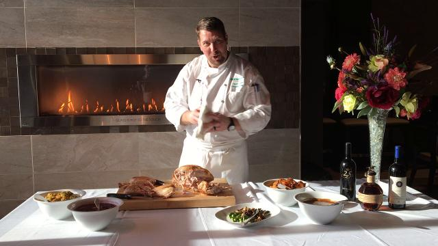 Here is the proper way to carve a Thanksgiving turkey, according to Tropicana Evansville Executive Chef Chuck Subra.
