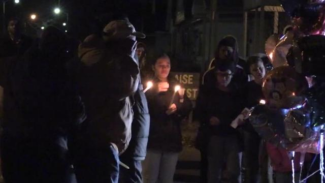 A vigil was held for the Carter family on Thursday Nov. 30, 2018.  The vigil comes a after a chase that left a 7-month-old and 2-year-old dead and their father with life-threatening injuries started after police tried to stop a car over false plates.