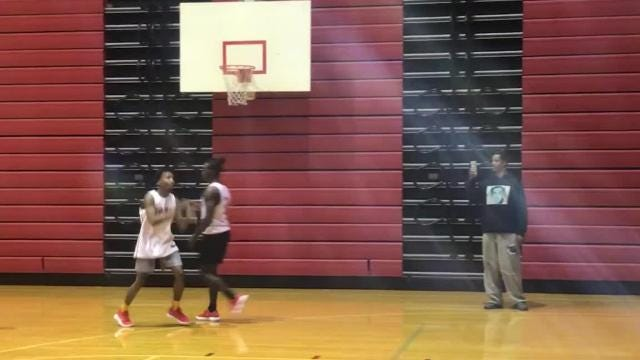 Mekhi Lairy and Jaylin Chinn from Bosse High School can slam dunk. Both players are under 6 feet.
