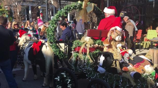 Christmas in New Harmony continues Sunday with pictures with Santa and vendors.