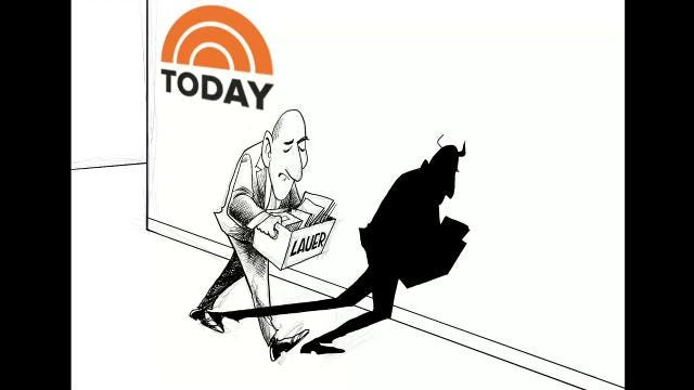 This time lapse video shows Gary Varvel's drawing technique from sketch to final coloring of Matt Lauer's shadow.