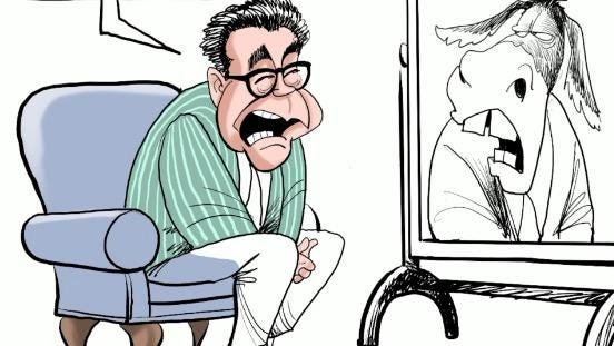"""This time lapse video shows Gary Varvel's process of drawing a digital cartoon of Sen. Al Franken's SNL character """"Stuart Smalley."""""""
