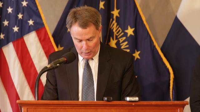Joe Hogsett, Indianapolis Mayor, talks about the city's rising murder rate, and new initiatives he's launching that he hopes will stem it, Indianapolis, Monday, Dec. 11, 2017.