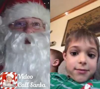 This app allows children to make a call to Santa.