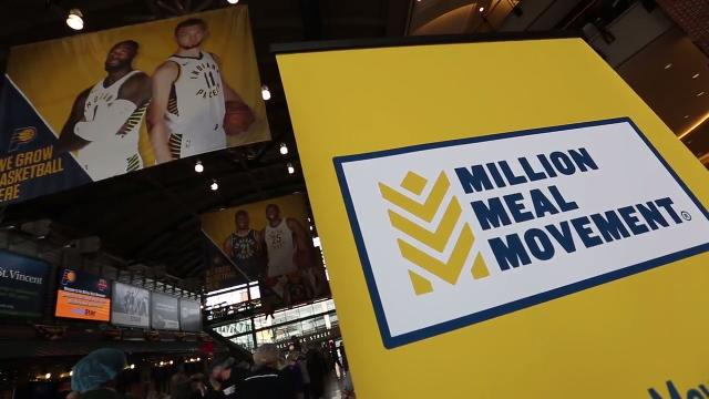 Pacers, Volunteers team up for Million Meal Movement