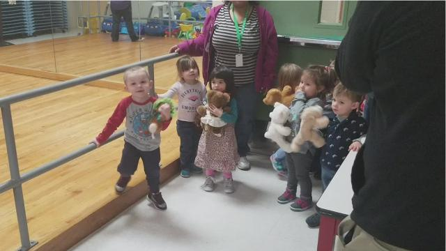The University of Evansville women's basketball team hand-delivered more than 100 teddy bears Monday to the Arc of Evansville Child Life Center. The bears were donated by fans during a home game on Dec. 10.