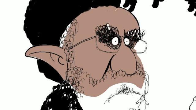 Gary Varvel shows his method of drawing Iran's supreme leader Ayatollah Ali Khamenei in this time lapse video.