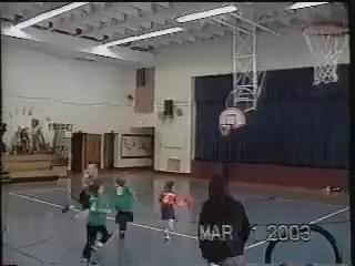 Tyra Buss showing off her skills at an early age during a game at the YMCA.