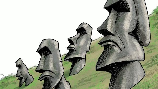 Watch Gary Varvel's technique in drawing the Easter Island statues in this time lapse video.