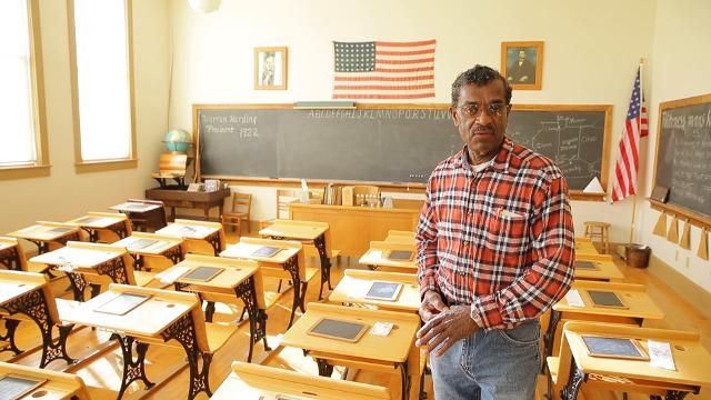 Stanley Madison, Chairman of Lyles Station Historic School and Museum, on what students will experience during a visit to the restored African American school's 1920's classroom. Madison is a former student of the school.