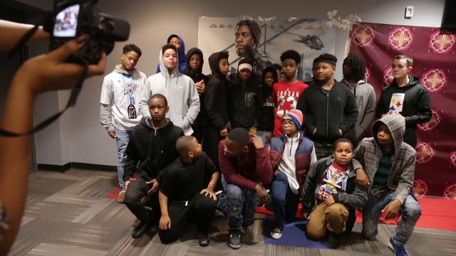 A variety of individuals and organizations, including NUVO, and Martin Luther King Community Center, are coming together to help buy tickets for children for the new movie Black Panther, Indianapolis, Saturday, Feb 17, 2018.