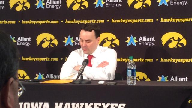 IU coach Archie Miller speaks with the media about his team's 84-82 win at Iowa on Saturday.