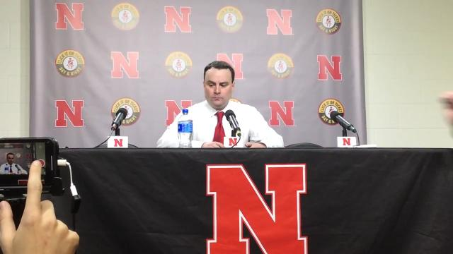 IU coach Archie Miller speaks with reporters following his team's 66-57 loss at Nebraska on Tuesday night.