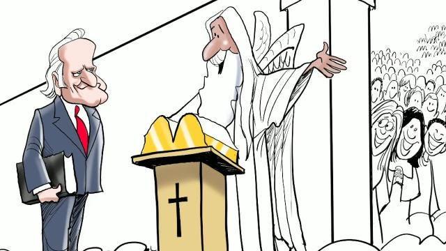 Varvel: How to draw Billy Graham in heaven