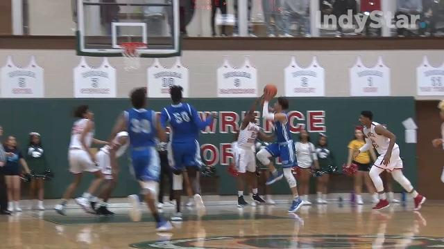 The Lawrence North Wildcats beat the Hamilton Southeastern Royals 64-58.