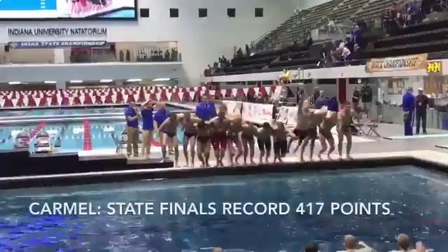 Carmel, once again, won IHSAA swimming finals in dominant fashion.