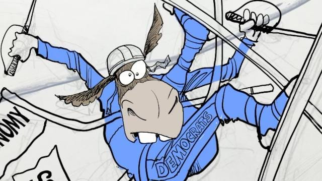Watch Gary Varvel's process in drawing this editorial cartoon of the Democrats downhill in this time lapse video.