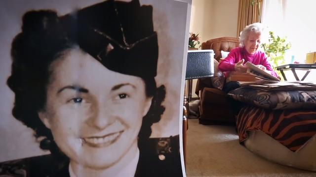 "101-year-old Marian ""Nan"" Somes, formerly First Lt. Marian N. Malik, was a combat nurse during World War II.  She talks about her time in Anzio caring for soldiers amid bombing."