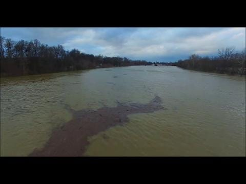 Drone footage showing the impact of an historic flood in Beals, Ky. in Henderson County.