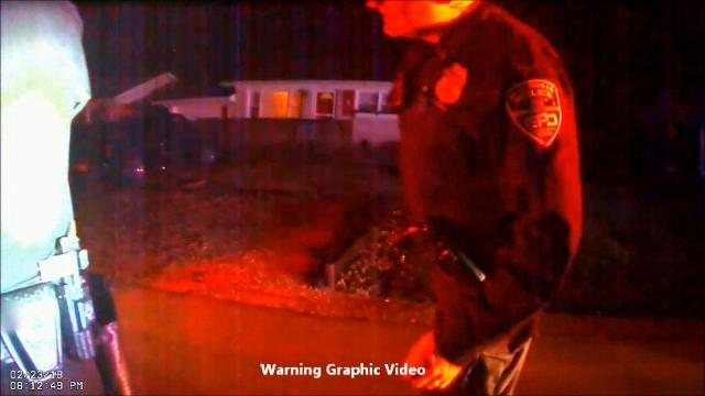 Body cam from EPD Officer J. Smith showing the officer-involved shooting of Douglas Kemp on Feb. 23, 2018. Officer Smith arrived on the scene after the shooting had occurred.