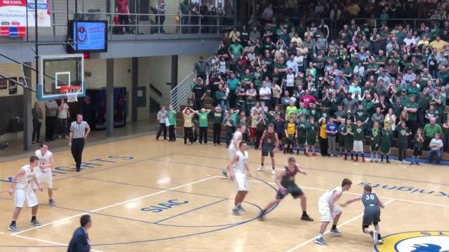 Watch Forest Park's Noah Fleck make a game-winning 3 to win a 2A sectional championship