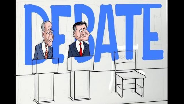 Watch Gary Varvel's method of drawing the Indiana GOP senatorial debate in this time lapse video.