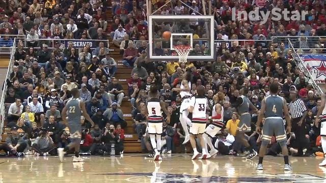 Warren Central's buzzer beater sends Warriors to state finals after classic 4A semistate against New Albany and Romeo Langford.