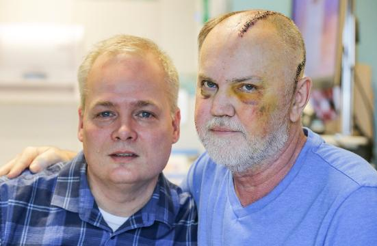 Acapulco Joe's Owner Grant Redmond and longtime life partner Bob Plank speak out after the attack that nearly killed Redmond, Tuesday, March 20, 2018.
