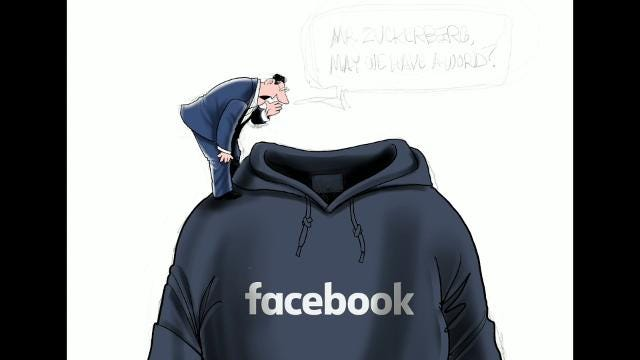 Watch Gary Varvel's technique in drawing Mark Zuckerberg in this time lapse video.