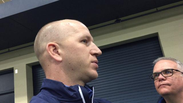 Notre Dame defensive coordinator Clark Lea knows he is learning on the job.
