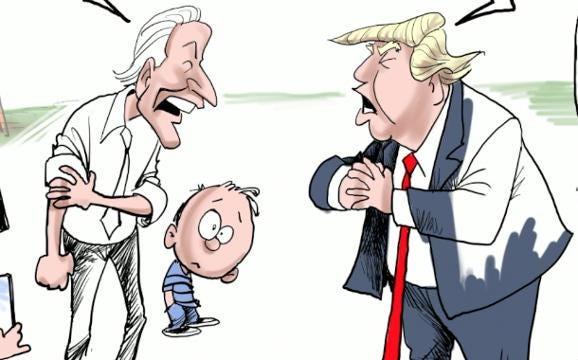 Varvel: Drawing the Biden-Trump fight
