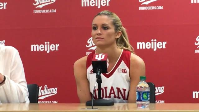 IU senior Tyra Buss led the Hoosiers over Purdue in a WNIT game.