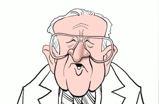 Watch Gary Varvel's technique in drawing John Paul Stevens in this time lapse video.