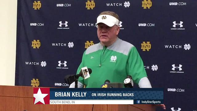 Brian Kelly on Notre Dame RBs, secondary