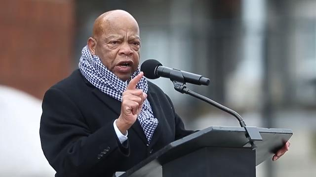 Civil rights legend John Lewis, Robert F. Kennedy's daughter and human rights advocate Kerry Kennedy and others speak on the 50th anniversary of Robert Kennedy's speech to a crowd in Indianapolis, announcing the assassination of Martin Luther King.