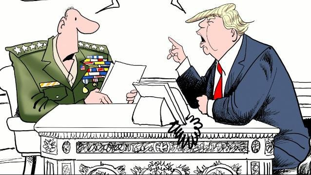 Watch Gary Varvel's method of drawing President Trump's next war in this time lapse video.