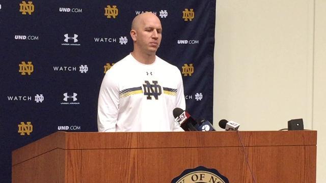 Clark Lea, Notre Dame's defensive coordinator, discusses a position change for Drue Tranquill. That means former Ben Davis High School star Asmar Bilal assumes a more significant role.