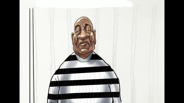 Watch Gary Varvel's technique in drawing Bill Cosby's caricature in this time lapse video.