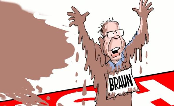 Watch Gary Varvel's drawing technique in this time lapse video of wealthy businessman Mike Braun's win in the nastiest campaign in the nation.