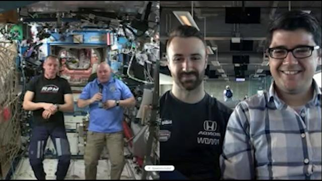 James Hinchliffe and Jim Ayello interview astronaut and Purdue grad A.J. Feustel from the International Space Station.