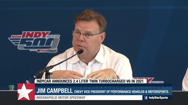 IndyCar president of competition an operations Jay Frye announces new, faster engine in 2021.