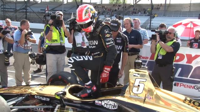 IndyCar driver James Hinchcliffe gets bumped from the Indianapolis 500 field.