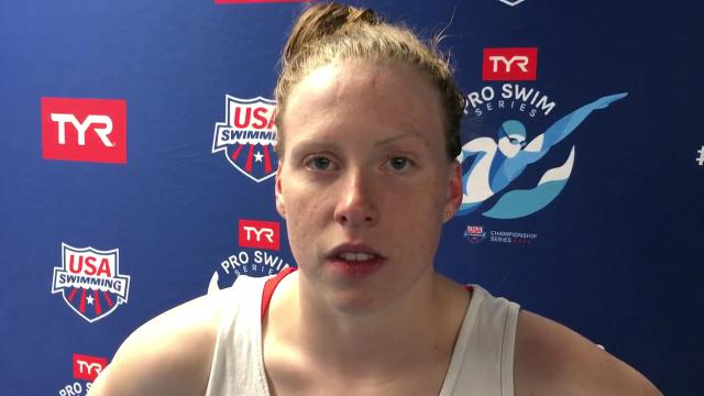 IU star breaststroker wins another title in her signature event, the 100 meters, at Saturday's TYR Pro Swim Series event in Indianapolis.