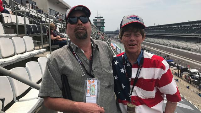 Rod Polston can't see Indy 500 but he loves the sounds.