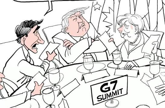 Watch Gary Varvel's time lapse video of his editorial cartoon of the G-7 summit.